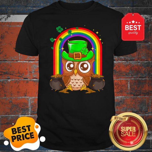 Nice Irish Leprechaun Owl Funny St. Patrick's Day Shirt