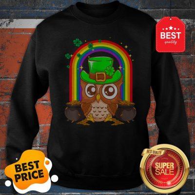 Nice Irish Leprechaun Owl Funny St. Patrick's Day Sweatshirt