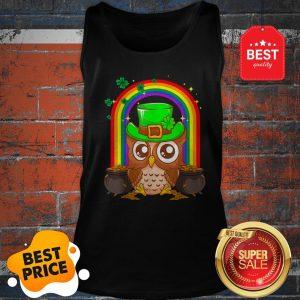 Nice Irish Leprechaun Owl Funny St. Patrick's Day Tank Top