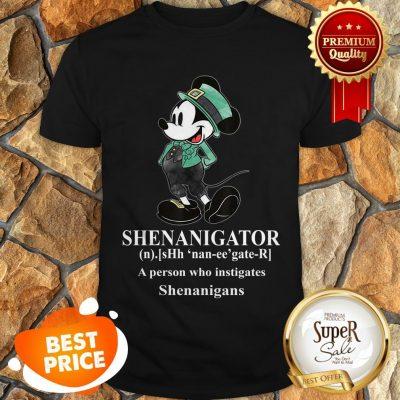 Nice Mickey Mouse Shenanigator Define St. Patrick's Day Shirt