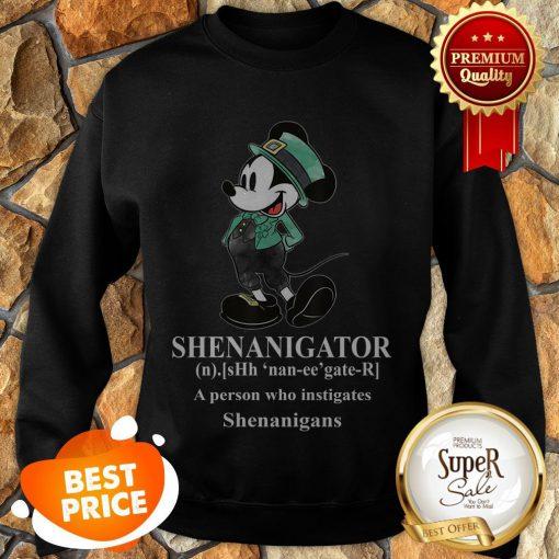 Nice Mickey Mouse Shenanigator Define St. Patrick's Day Sweatshirt