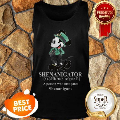 Nice Mickey Mouse Shenanigator Define St. Patrick's Day Tank Top