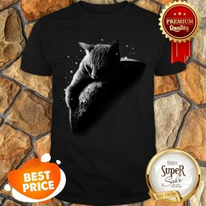 Nice Mooncat Cat Sleep On Moon Shirt
