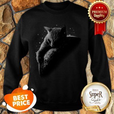 Nice Mooncat Cat Sleep On Moon Sweatshirt