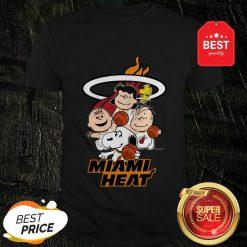 Nice Peanut Characters Mashup Miami Heat Shirt