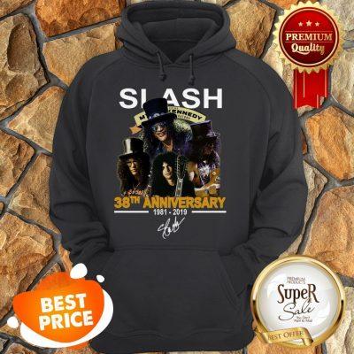 Nice Slash 38th Anniversary 1981 2019 Signature Myles Kennedy HoodieNice Slash 38th Anniversary 1981 2019 Signature Myles Kennedy Hoodie