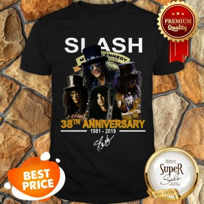 Nice Slash 38th Anniversary 1981 2019 Signature Myles Kennedy Shirt