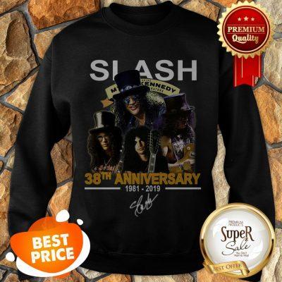 Nice Slash 38th Anniversary 1981 2019 Signature Myles Kennedy Sweatshirt