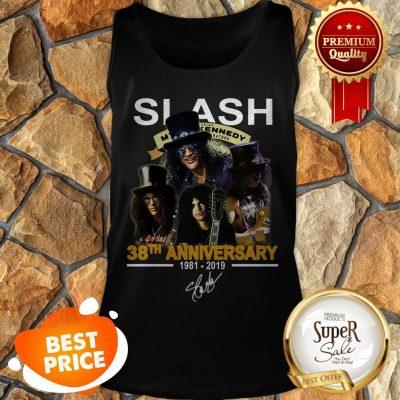 Nice Slash 38th Anniversary 1981 2019 Signature Myles Kennedy Tank Top