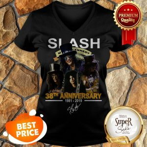 Nice Slash 38th Anniversary 1981 2019 Signature Myles Kennedy V-neck