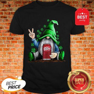 Nice St Patrick's Day Gnome Hug Dr Pepper Shirt