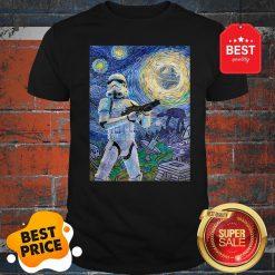 Nice Star Wars Stormtrooper Mashup Van Gogh Starry Night Shirt