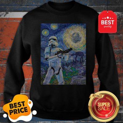Nice Star Wars Stormtrooper Mashup Van Gogh Starry Night Sweatshirt
