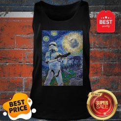 Nice Star Wars Stormtrooper Mashup Van Gogh Starry Night Tank Top