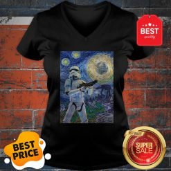 Nice Star Wars Stormtrooper Mashup Van Gogh Starry Night V-neck