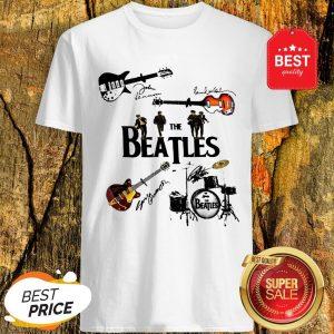 Nice The Beatles Guitars Drummer Signatures Shirt