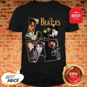 Nice The Beatles Love Signatures Shirt