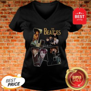 Nice The Beatles Love Signatures V-neck