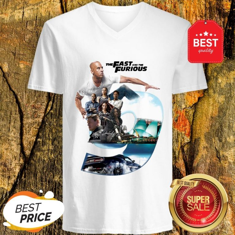 Nice The Fast And The Furious 9 Signatures V-neck