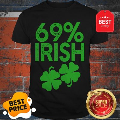 Official 69% IRISH Funny St Patrick's Day Shirt
