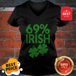 Official 69% IRISH Funny St Patrick's Day V-neck