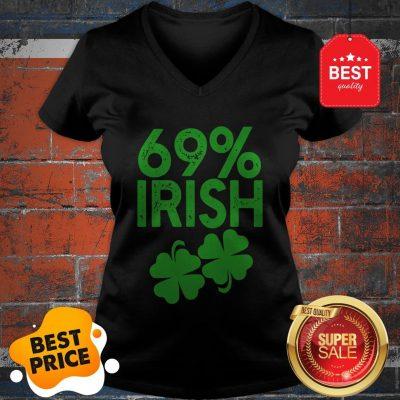 Official 69% IRISH Funny St Patrick's Day V-neck