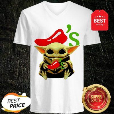 Official Baby Yoda Hug Chili's Star Wars V-neck