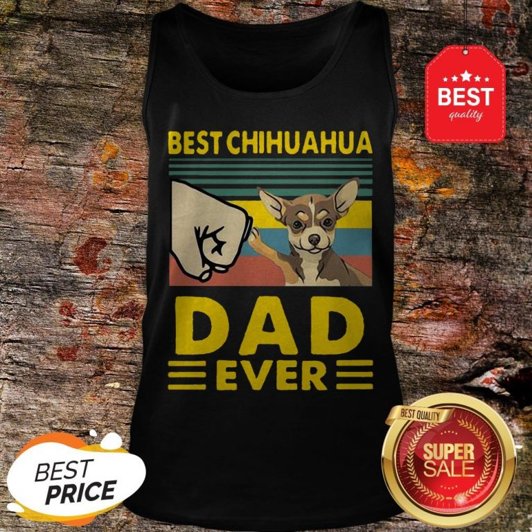 Official Best Chihuahua Dad Ever Vintage Tank Top