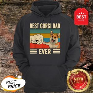 Official Best Corgi Dad Ever Vintage Hoodie