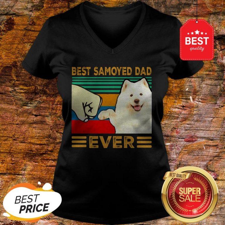 Official Best Samoyed Dad Ever Vintage V-neck