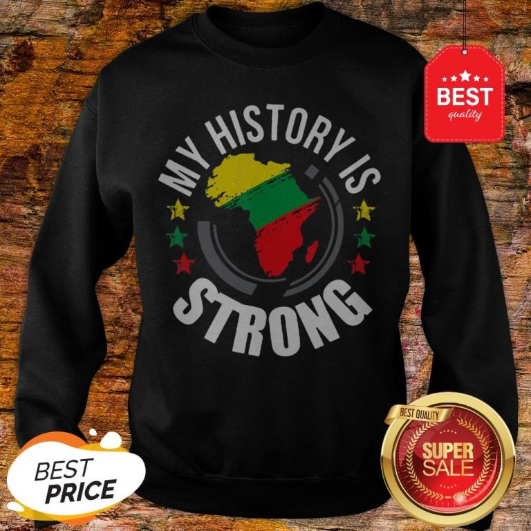 Official Black History Month African Map Colors Sweatshirt