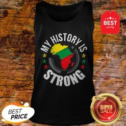 Official Black History Month African Map Colors Tank Top