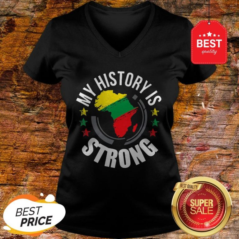 Official Black History Month African Map Colors V-neck