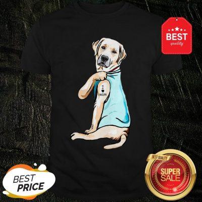 Official Golden Retriever I Love Mom Tattoos Shirt