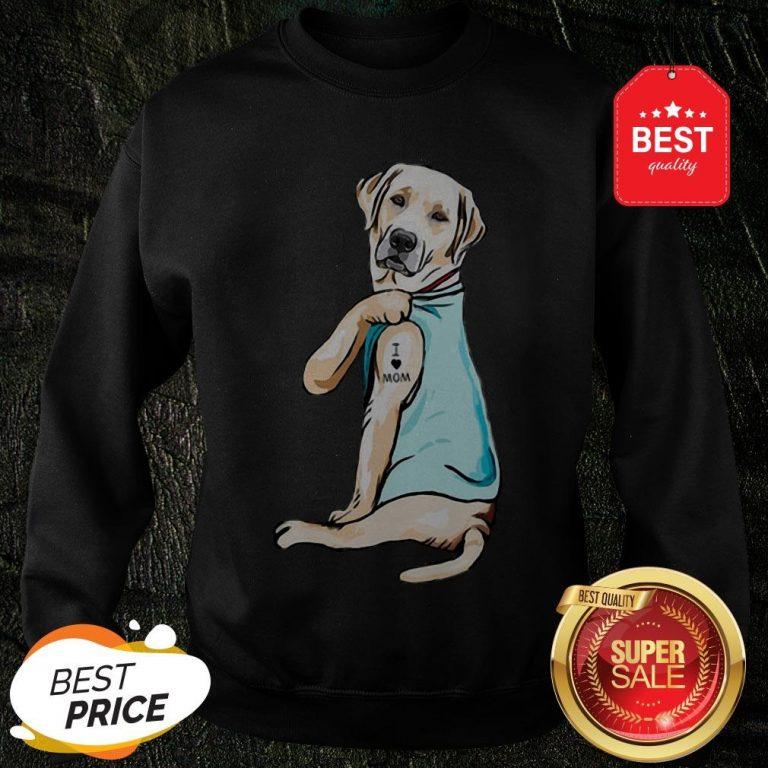 Official Golden Retriever I Love Mom Tattoos Sweatshirt