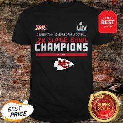 Official Kansas City Chiefs 2X Super Bowl Champions Shirt