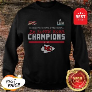 Official Kansas City Chiefs 2X Super Bowl Champions Sweatshirt