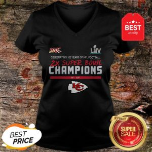 Official Kansas City Chiefs 2X Super Bowl Champions V-neck