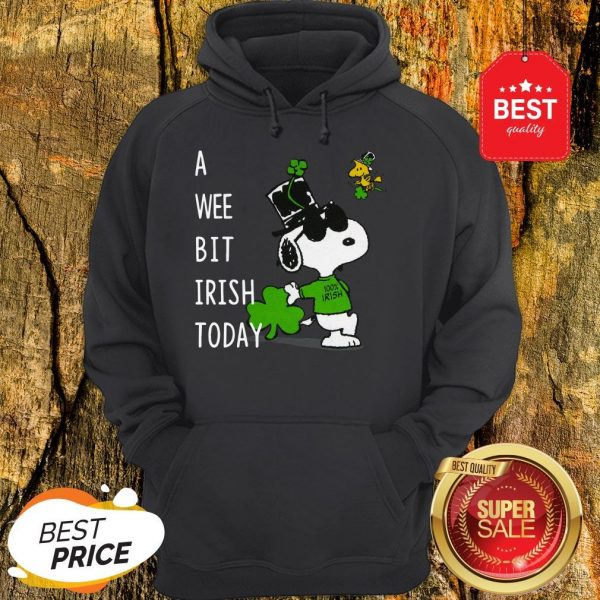 Snoopy A Wee Bit Irish Today Shamrock St. Patrick's Day Hoodie