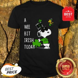 Snoopy A Wee Bit Irish Today Shamrock St. Patrick's Day Shirt