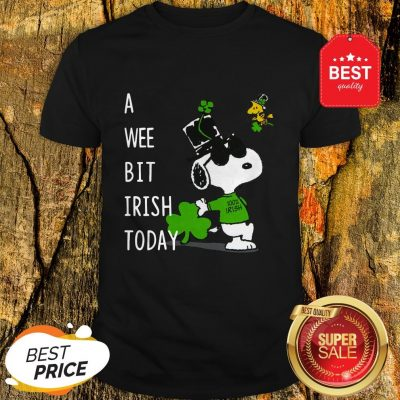 Snoopy A Wee Bit Irish Today Shamrock St. Patrick's Day Shirt