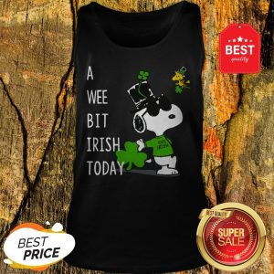 Snoopy A Wee Bit Irish Today Shamrock St. Patrick's Day Tank Top