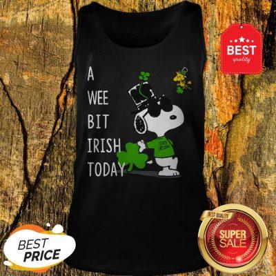 Snoopy A Wee Bit Irish Today Shamrock St. Patrick's Day Tank Top