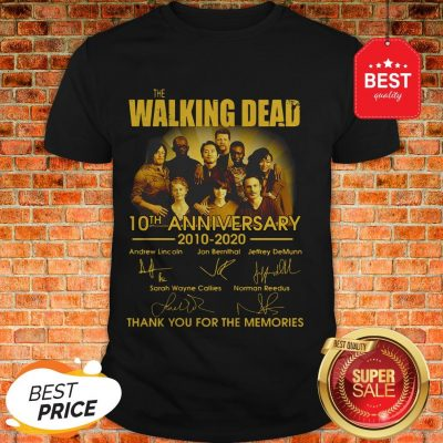 The Walking Dead Character 10th Anniversary 2010-2020 Signatures Shirt