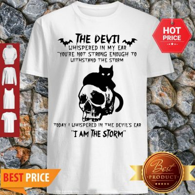 Black Cat Skull The Devil Whispered In My Ear I Am The Storm Shirt