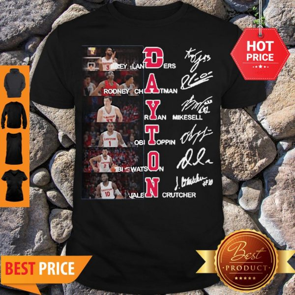 Dayton Flyers Trey Landers Rodney Chatman All Character Signatures Shirt