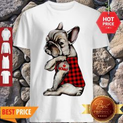 French Bulldog Tattoo I Love Mommy Animal Lover Shirt