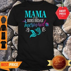 Beautiful Mama Of The Birthday Mermaid Matching Family Shirt