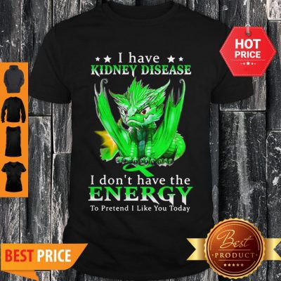 Dragon I Have Kidney Disease I Don't Have The Energy To Pretend Shirt