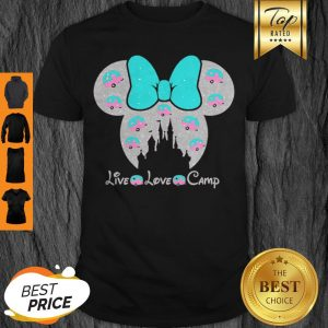 Disney Minnie Mouse Live Love Camp Shirt